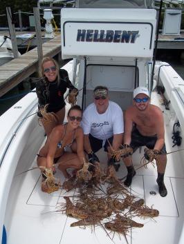 Hawks Cay diving lobster season