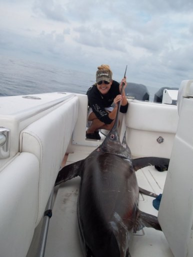200 lb swordfish off Fort Lauderdale