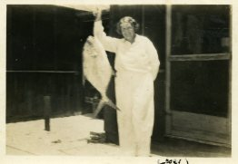 Great Grandmother Eberle with her permit
