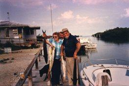 Dad, Grandma Lobeck & Papa Lobeck at Linderman Key