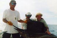 Papa Lobeck with his sailfish in Costa Rica