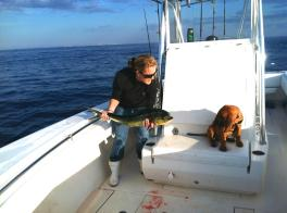 Dixie's first dolphin